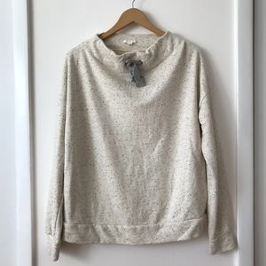 COS Speckled Mock Neck Leisurewear Sweatshirt